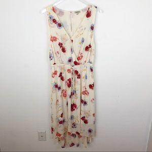 Lucky Brand Floral Hi Low Waist Tie Dress size 1X